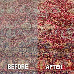 Before and After Rug Cleaning